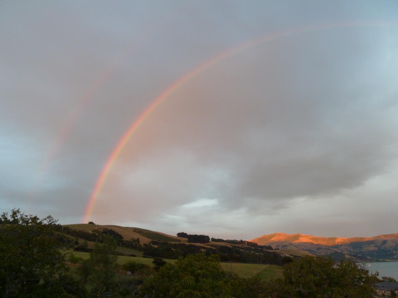 Rainbow over Akaroa