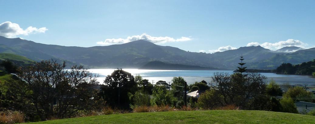 Enjoy the views of Akaroa Harbour from L'abri B&B